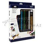 Asztali színes rajzkészlet kis asztali festőállvánnyal - Royal Drawing 17