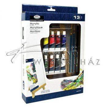 Akril festőkészlet kis asztali festőállvánnyal - Royal Acryl 13 részes szett