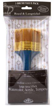 Alapozó ecset készlet - Ferdére vágott - Gold Taklon - Extra minőség