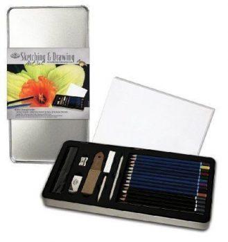 Színes rajzkészlet - Deluxe fém dobozban - Royal - 24db