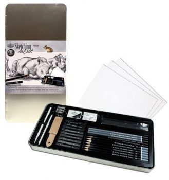 Grafikai rajzkészlet - Deluxe fém dobozban - Royal - 33db