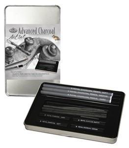 Szénrajz alapcsomag fém ceruzatartóban - 12