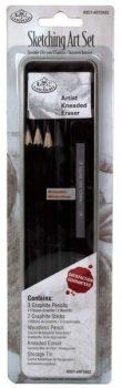 Kreatív hobby - Vázlat és grafit mini készlet - fém dobozban - Royal - 12db