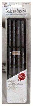 Grafitrudak készlet, fémdobozos - Royal - 12db