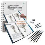 Állatos rajztanítás készlet - Vázlatrajz készlet kellékekkel - Könyv alakban