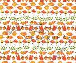 Kartonpapír - Őszi mozaik, mókus, makk, tölgyfalevél mintás karton, 29,5x20 cm, 1 lap