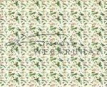 Kartonpapír - Karácsonyi varázslat Fenyőfaágak és díszített magyal mintás Karton, 300g, 1 lap