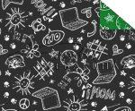 Kartonpapír - Suli minta 1, két oldalas iskolatábla fekete/zöld Back to school Karton 1 lap
