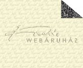 Kartonpapír - Just Married, Krémfehér Feliratos, hátoldalán krém-fekete klasszikus mintás