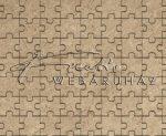 Kartonpapír - Natúr puzzle mintás, Karton 1 lap