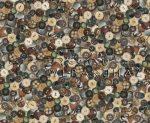 Kartonpapír - Gombok, a Nagyi gombjai, mintás, Karton 1 lap