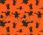 Kartonpapír - Halloween, boszorkány seprűnyélen mintás Karton, 300 g, 1 lap