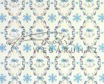 Kartonpapír - Karácsony, kék, Csengettyűs tapéta mintás Karton, 29,5x20cm, 1 lap