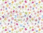 Kartonpapír - Apró színes pillangók, Karton, 1 lap