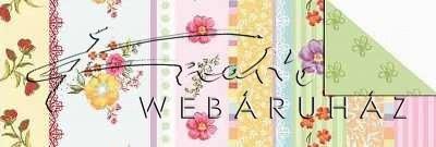 Kartonpapír - Joly Színes virágok, karton, 1 lap