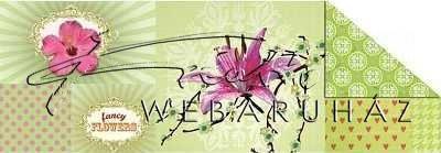 Kartonpapír - Pillangók zöld alapon, szines karton, 1 lap