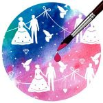 Kartonpapír, mágikus - Esküvői, varázslatos színváltós design karton, 250 gr., A4 - 1 lap
