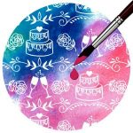 Kartonpapír, mágikus - Esküvői torta, varázslatos színváltós design karton, 250 gr., A4 - 1 lap