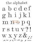 Akrilnyomda készlet - Nyomtatott kisbetűk