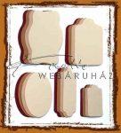 Színes címkék - Csokoládé, dohány, türkiz, pink színű címkék - Világoskék, pink, barna, sárgabarack színű címkék
