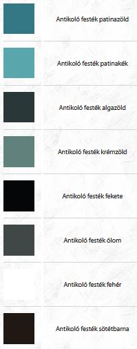 Színskála az antikoló festékekhez