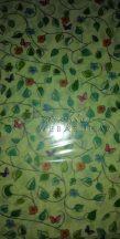 Transzparens papír - Inda mintás levelekkel, pillangókkal