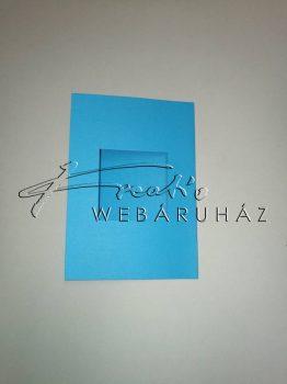 Paszpartu meghívó négyszög alakú kivágással - 6 db