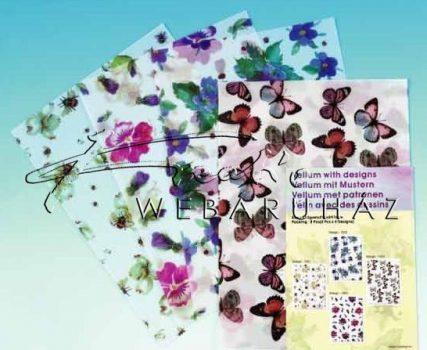 Transzparens papír - Pillangó, méhecskék, katicák és virágok