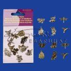 Fém dísz - Repülő Állatkák - fém függők - 6 db