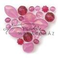 Rózsaszín Akril Kő- Barokk, Gyöngy