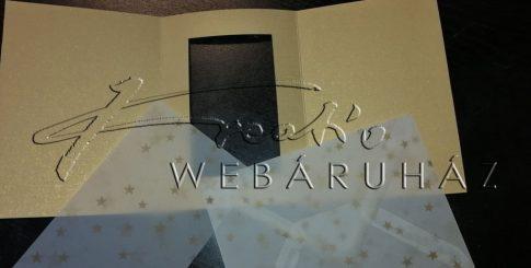 Boríték - Transzparens boríték - Csillagos, arany- 3 db-os készlet