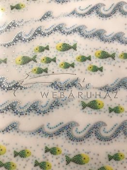 Kartonpapír - Mozaik halak - 10 lap