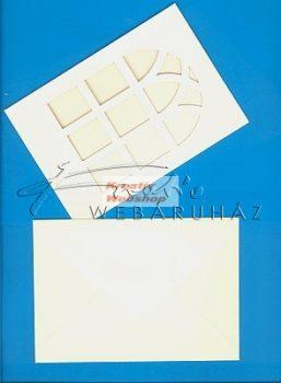 Meghívó készlet - Ablakos, színes paszpartu borítékkal