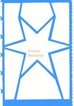 Sablon - Csillag formájú képkészítő műanyag sablon
