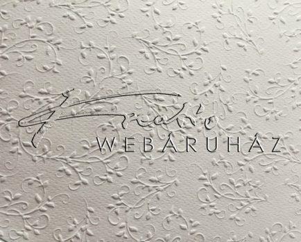 Domborkarton - Firenze mintás fehér színű domborított karton, 220gr, 29x20cm, 1 lap
