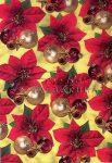 Transzparens papír - Mikulásvirág, arany dísz