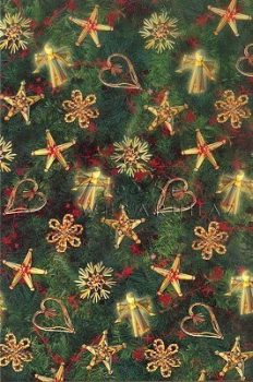 Transzparens papír - Szalma karácsonyfadíszek