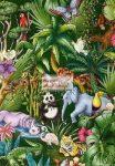 Transzparens papír - Dzsungel