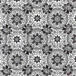 Transzparens papír - Fekete- Fehér Csipkevirág 5 lap/csomag
