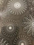 Tonkarton - Fehér-fekete - Mandala - Egyoldalas - 20 x 30 cm - 220 gr, 5 lap/csomag