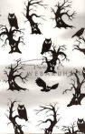 Transzparens papír - Bagoly, Halloween