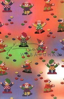 Transzparens papír - Bohóc, piros, kék, zöld