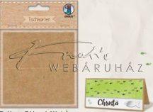 Asztali ültető karton kártya, 200gr, 5x10cm, natúr karton, 12 lap/csomag
