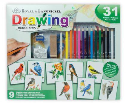 Kreatív hobby - Hobby művész - Grafikai készlet -Színes madarak
