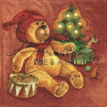 Maci karácsonyfával - Szalvéta