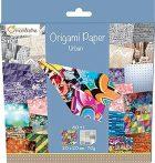 Origami papír - Design papíros hajtogató készlet, 20x20cm, 60 lap - Urban