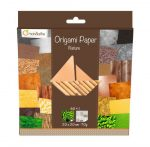 Origami papír - Design papíros hajtogató készlet, 20x20cm, 60 lap - Természetes minták