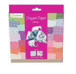 Origami papír - 60 lapos hajtogató készlet 20x20 cm - Virágos boldogság