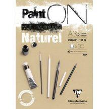 PaintON  rajzpapír-tömb, enyhén szemcsés papír, különböző technikákhoz 250 g/m2 30 ív 29,7 x 42,0 A3