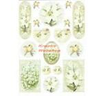 A4 Dekupázs rizspapír Lily